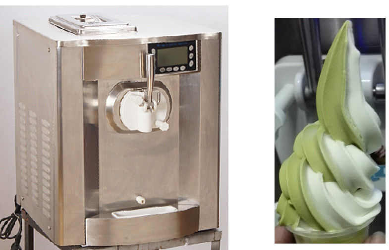 Stainless Steel Mini Ice Cream Machine Single Flavor Continuously Dispense