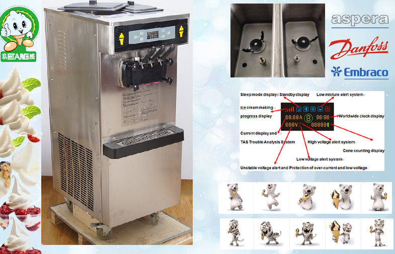 Pre-cooling Soft Serve Ice Cream Freezer Standby And Low Noisy Selfservice