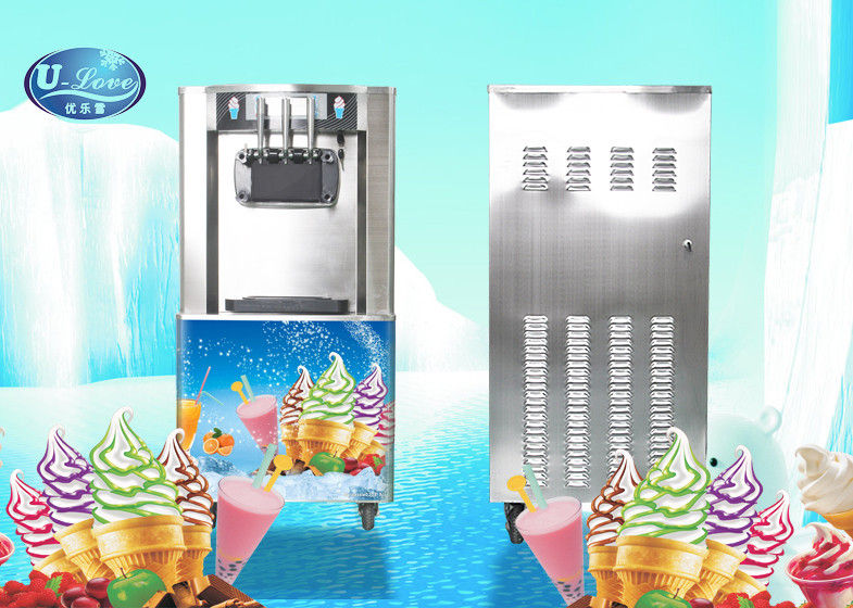 UL328 Floor Standing Soft Serve Freezer With 18-25L/H Hourly production , Low Noisy