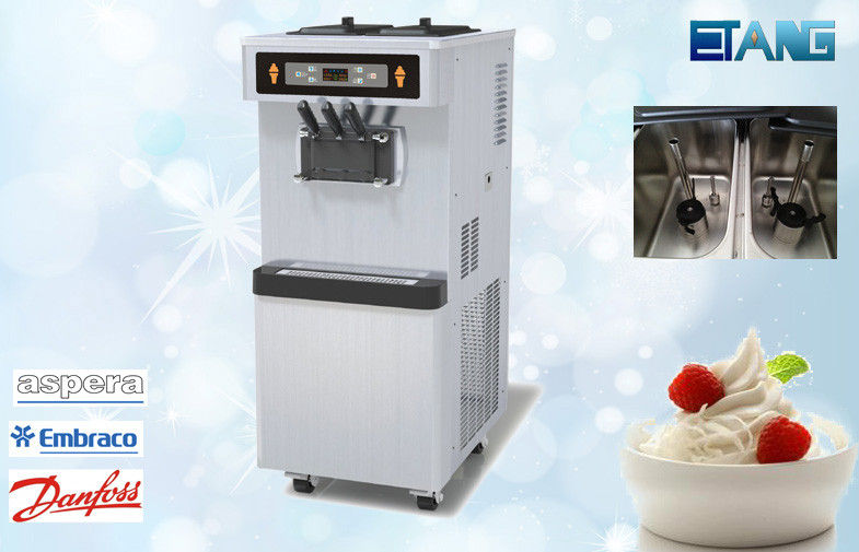 Floor Model Yogurt Making Equipment, 3 Flavors With Pre-Cooling System