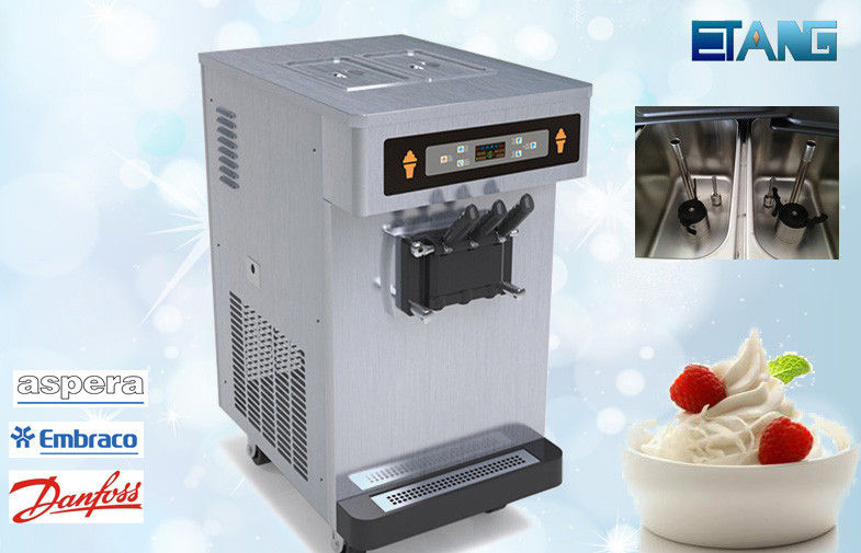 Big Hopper Counter Top Ice Cream Machine With Pre-Cooling System