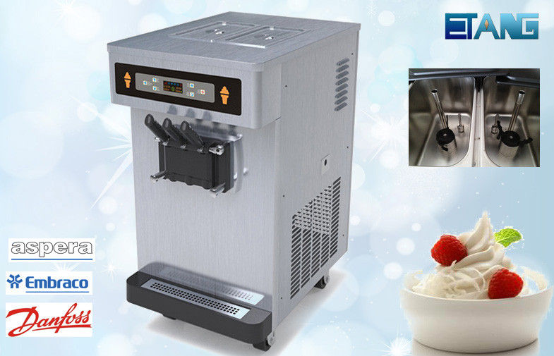 Low Noisy Table Top Ice Cream Machine , Stainless Steel Casing