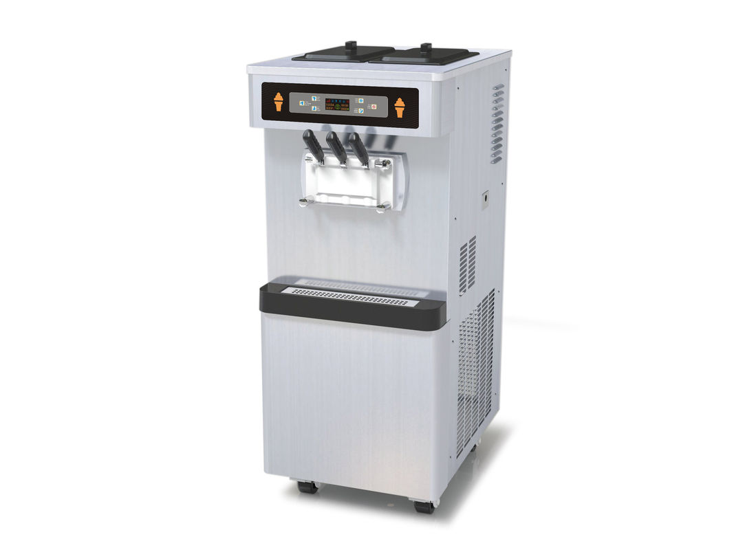 3 Phase Full Stainless Steel Frozen Yogurt Equipment, 3 Flavors Soft Serve Automatic Ice Cream Machin