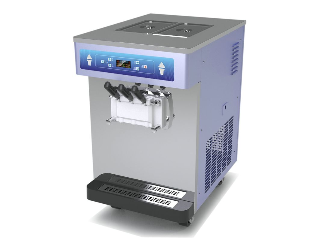 Big Compressor Automatic Ice Cream Machine , Gravity Feed Standby