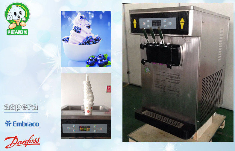 Big Output Table Ice Cream Making Machine , Keep Fresh System