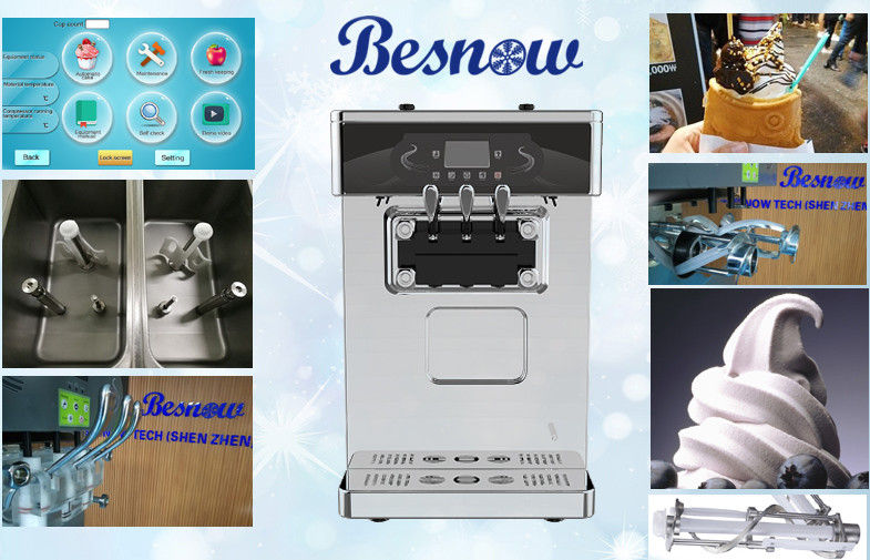 <b>Touch Screen Air Pump Counter Top Puffing Ice Cream Making Machine, Super Low Noisy, High Output, Sma</b>