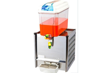 Single Tank 12 Liters Hot / Cold Drink Juice Dispenser Machine, Mixing / Spraying Stainless Steel Juice Machine