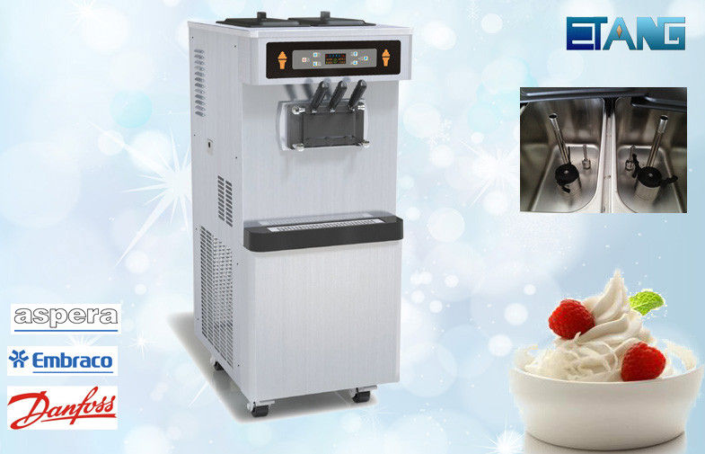 Hi Effective Commercial Ice Cream Maker, 3 Flavors Frozen With Pre-Cooling System