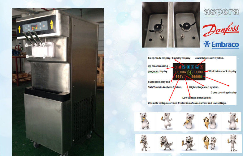 KFC Style Frozen Yogurt Machines For Cafe , Twin Twist Flavor