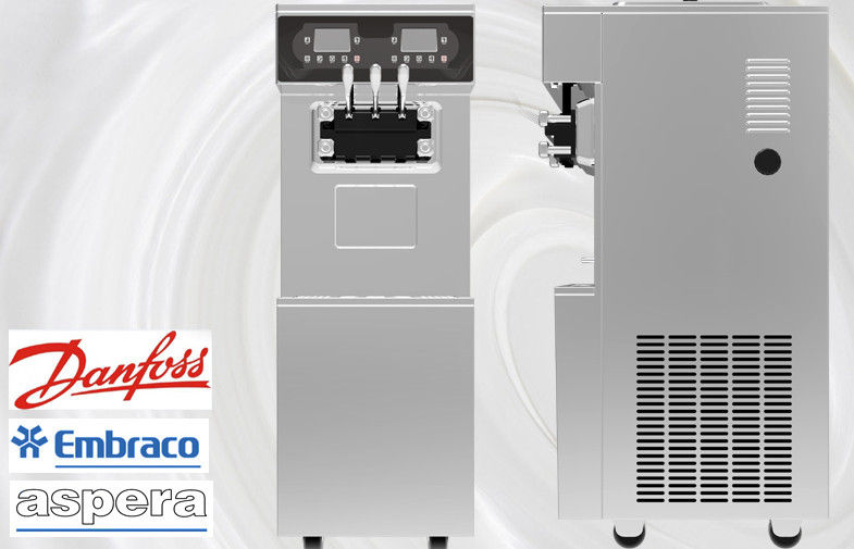High Efficiency Frozen Yogurt Machines With Water Cooling / Keeping Fresh System