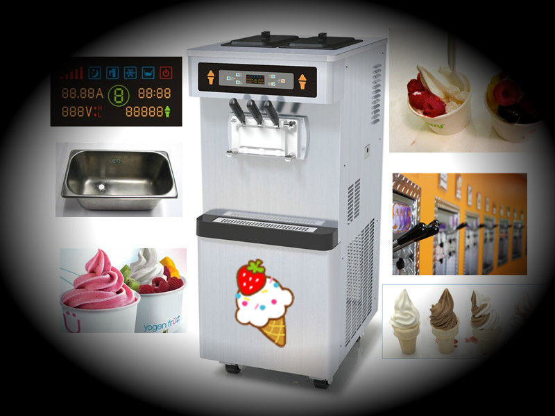 Floor Standing Soft Serve​ Ice Cream Machines , Consecutively Ice Creaming