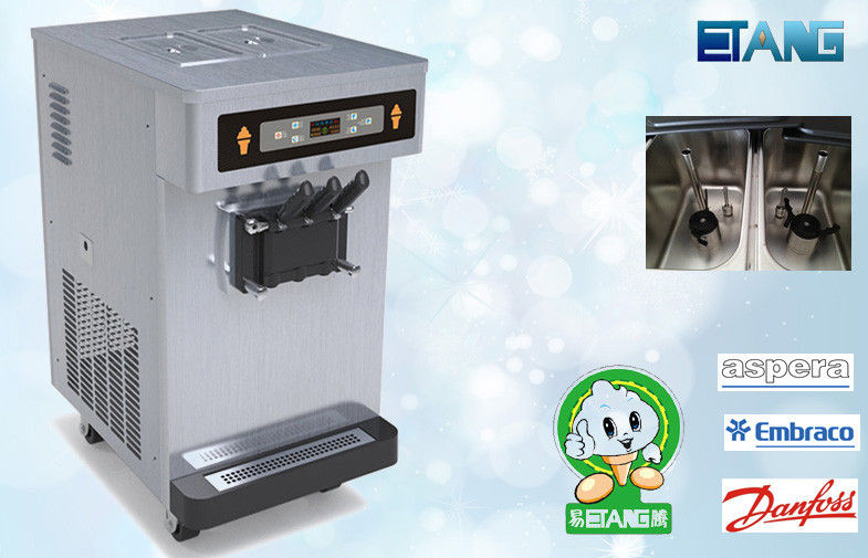 Table Top Soft Serve Ice Cream Machines With Full Staiinless Steel Shell