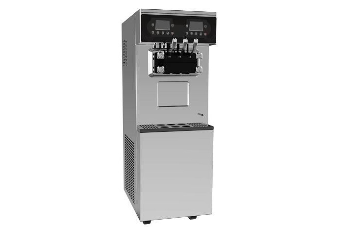 Energy Saving Frozen Yogurt Machines with Frequency Converter , Exhaust Type Condenser