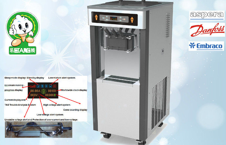 Low Noisy Yogurt Ice Cream Machine With Pre-Cooling System