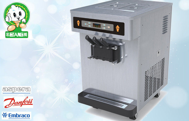 Mini Automatic Yogurt Ice Cream Machine , 3 Flavor , Counting Display