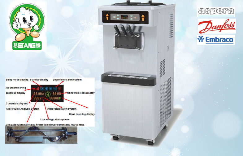 Self Service Yogurt Ice Cream Machine Automatic Clean and Ice Creaming