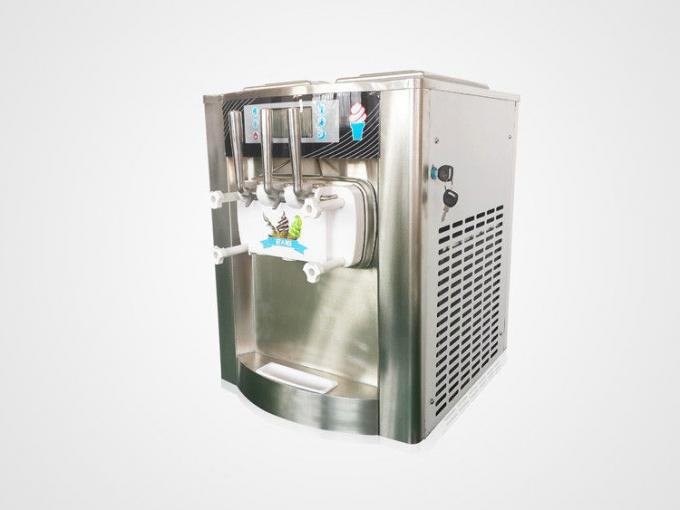 3 Flavor Top Ice Cream Making Machine , 18-25Liters per hour , Big LCD Display Screen , Stainless Steel Shell