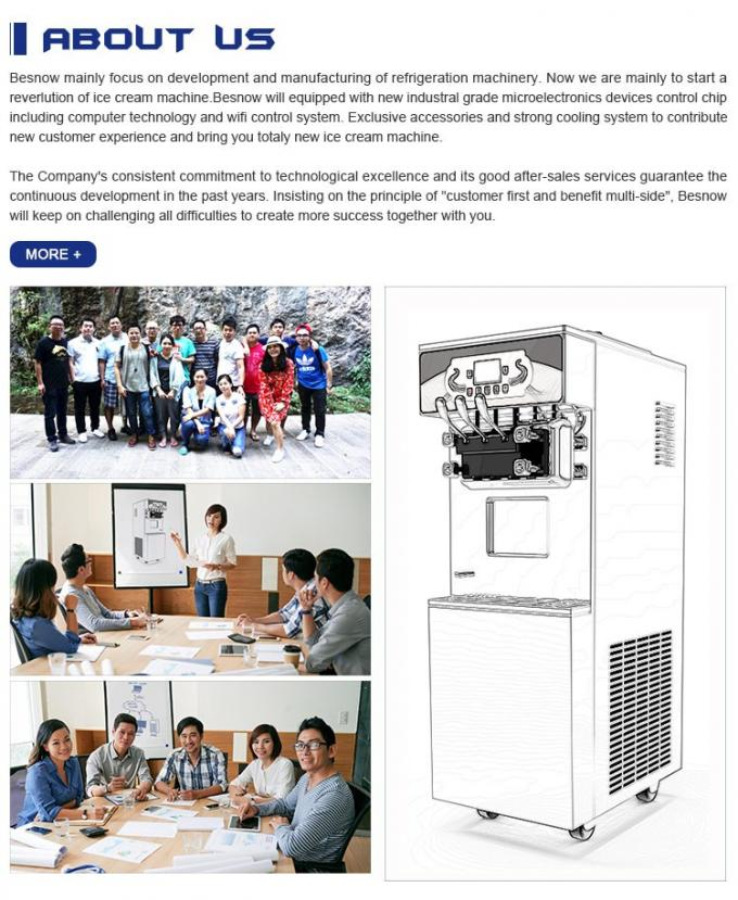 Household use soft ice cream machine, commercial-style at-home soft serve machine, DIY Ice cream